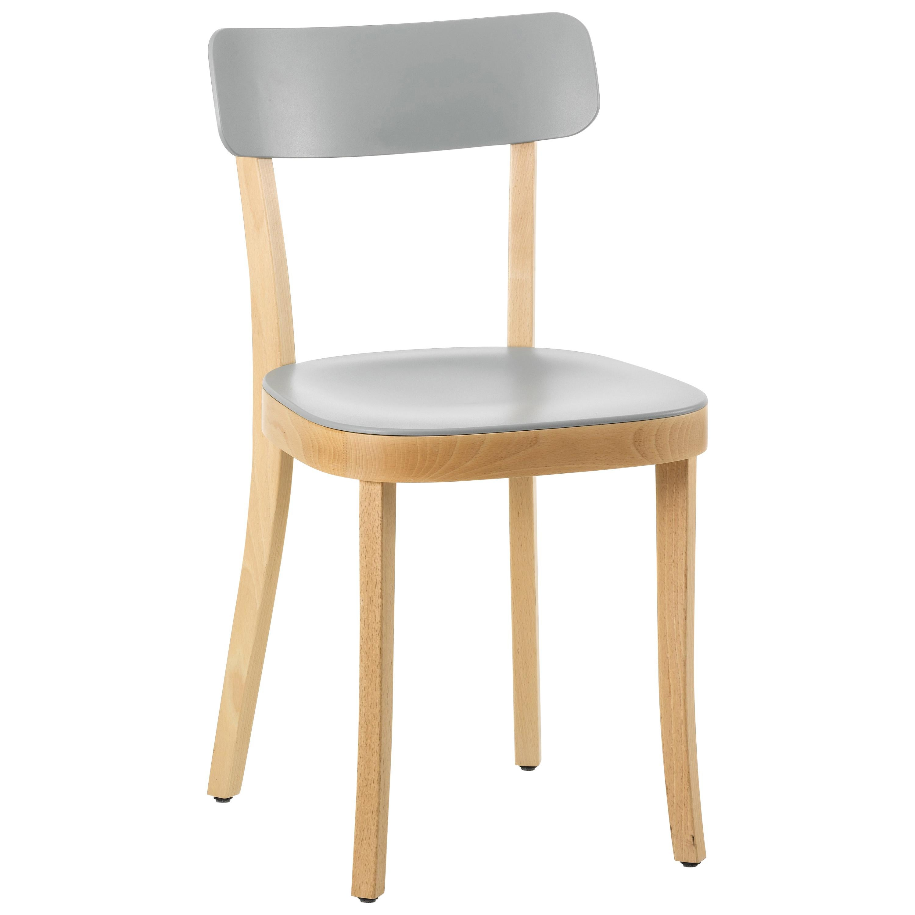 light grey chair tall outdoor table and chairs vitra basel in with natural beech base by jasper morrison for sale