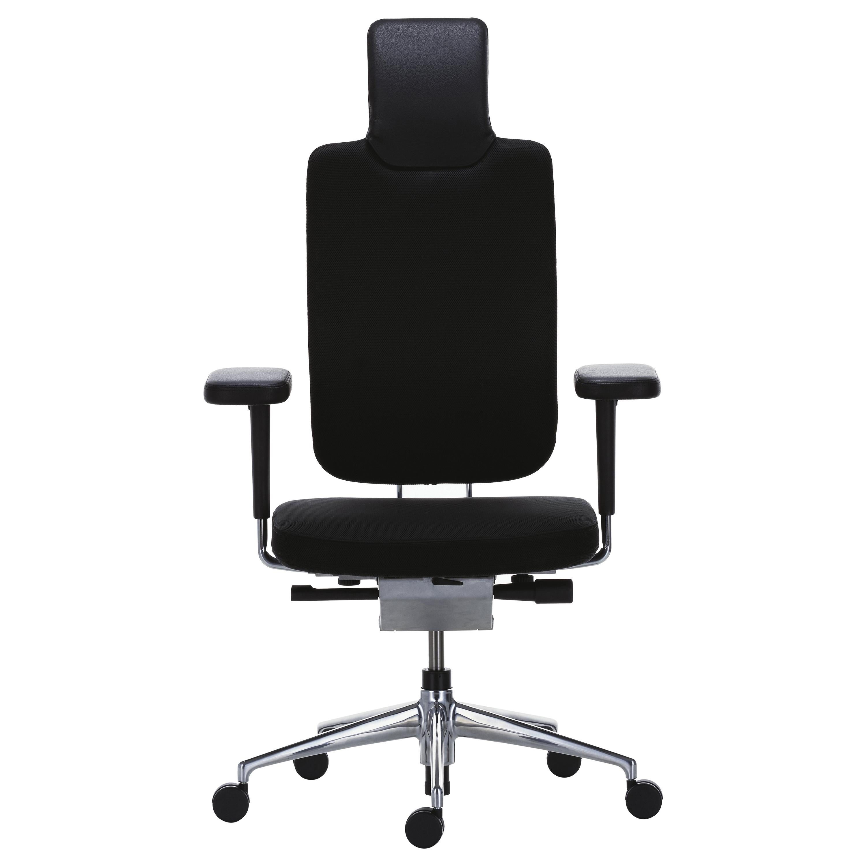 vitra ergonomic chair without arms headline office in black w leather details mario and claudio bellini for