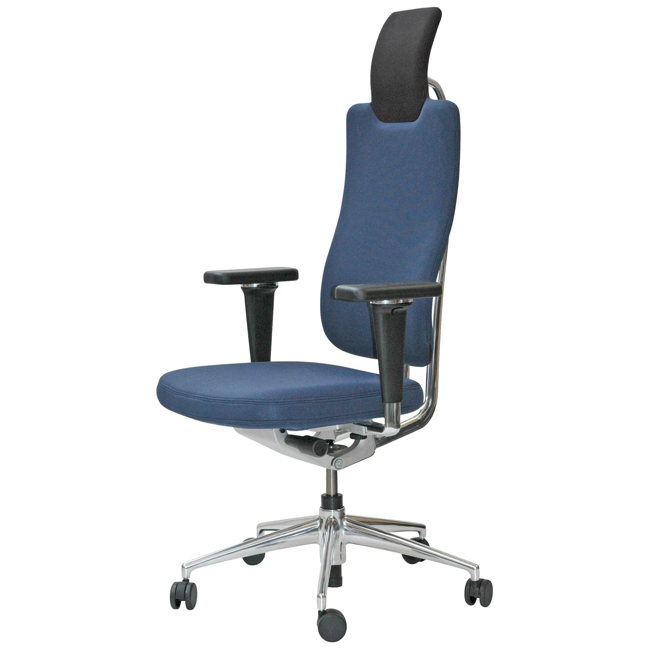 vitra ergonomic chair cover rental contract headline office in blue with 3d armrest by mario and claudio bellini for sale