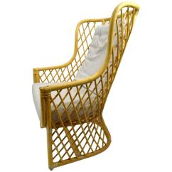 Wicker Chair For Sale Steelcase Leap V1 Vs V2 Bamboo Weave Lounge At 1stdibs