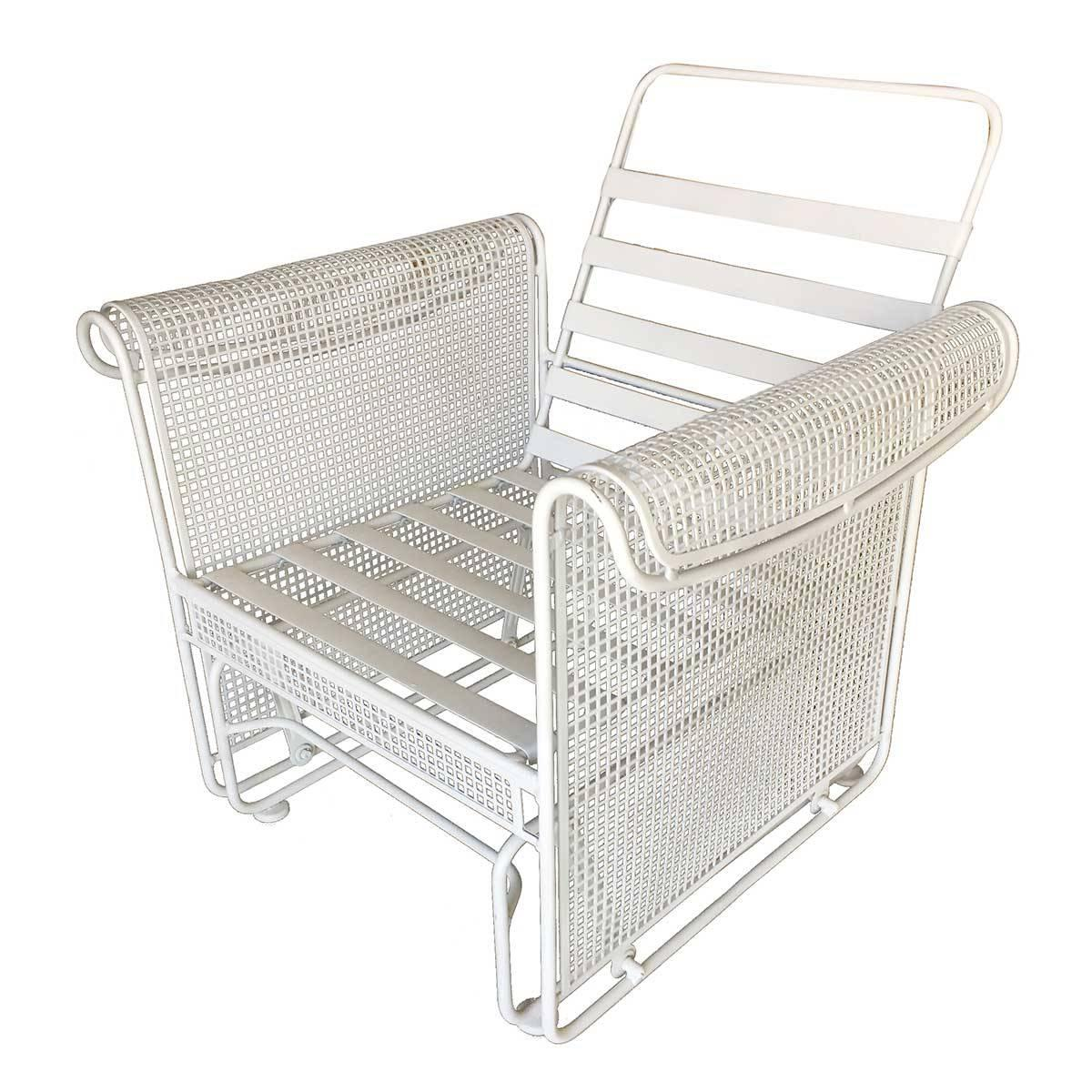 Lounge Chair Patio Woodard Mesh Outdoor Patio Side Glider Rocking Lounge Chair