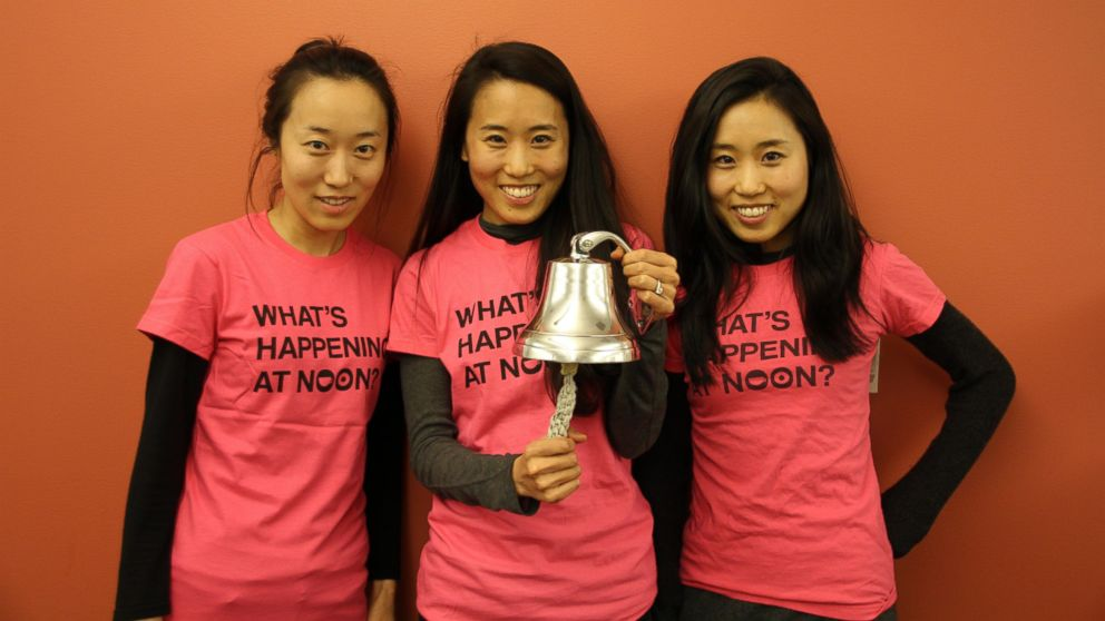 PHOTO: From left, Soo, Arum and Dawoon Kang, co-founders of dating service Coffee Meets Bagel.