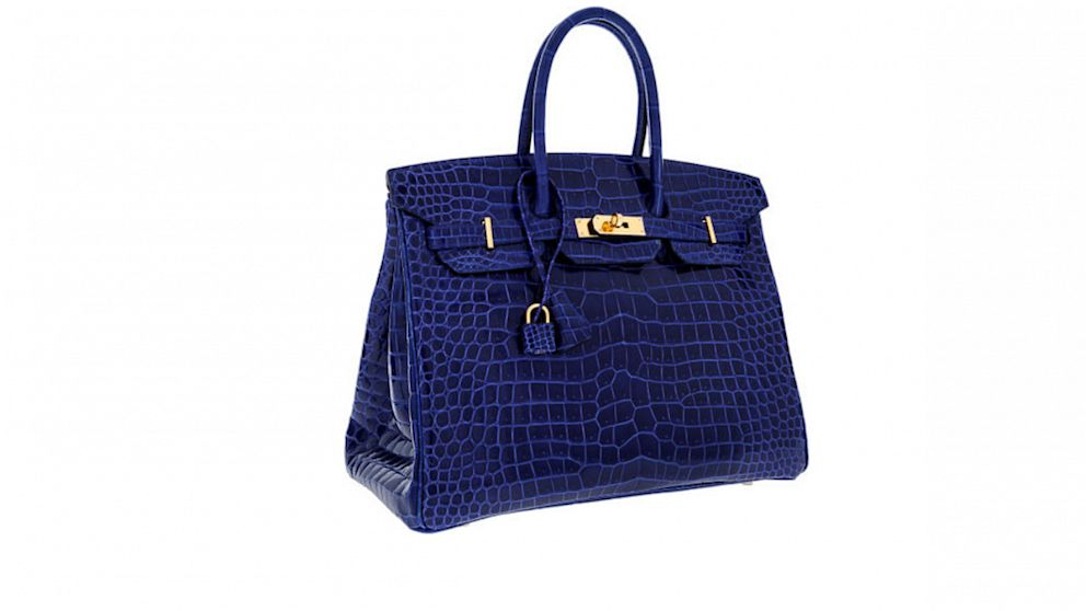 Hermes Blue Crocodile Birkin bag