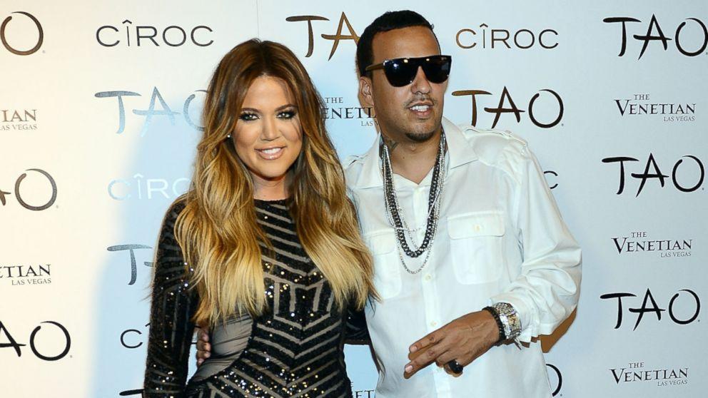 PHOTO: Khloe Kardashian and French Montana arrives at Khloe Kardashians 30th birthday party at TAO Nightclub on July 4, 2014 in Las Vegas, Nevada.