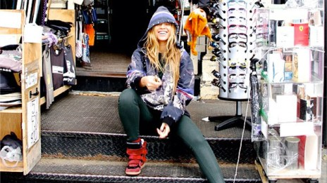 PHOTO:Beyonce posts a photo of herself at a street vendor, Spring 2013.