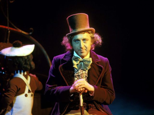 PHOTO: Gene Wilder, as Willy Wonka, on the set of the film Willy Wonka and the Chocolate Factory, based a novel by Roald Dahl.