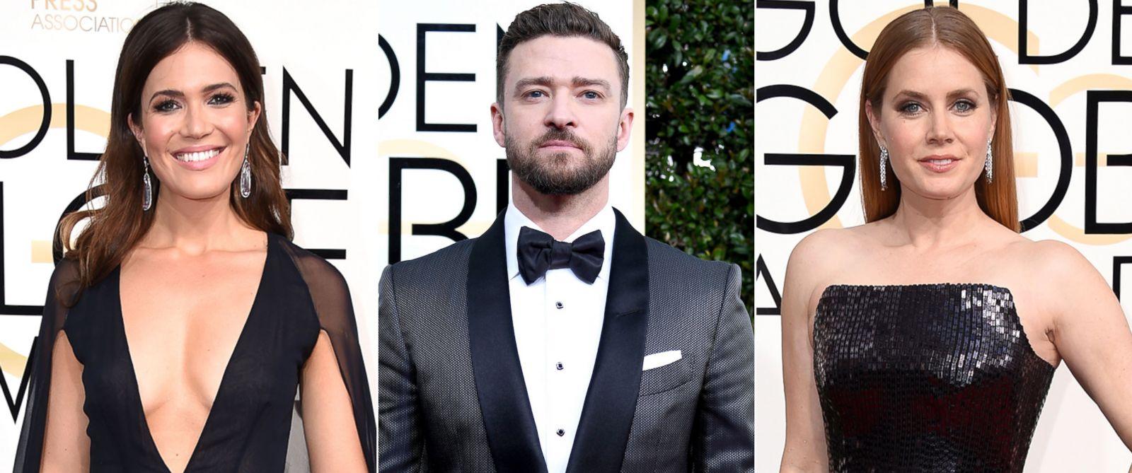 FOTO: Mandy Moore, Justin Timberlake, e Amy Adams nas 74th concessões douradas anuais do globo no Beverly Hilton Hotel janeiro em 8, 2017 em Beverly Hills, Calif.