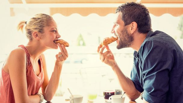 PHOTO: In this stock image, a couple is pictured eating croissants.