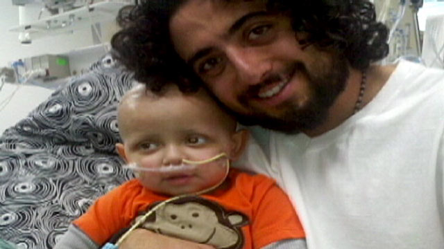 Image result for ABC News, a father in Montana, Mike Hyde, claims that cannabis oil helped to cure his two-year-old son of a stage 4, malignant brain tumor on his optic nerve.