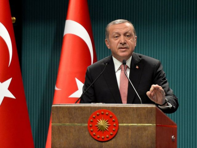 PHOTO: Turkeys President Recep Tayyip Erdogan speaks after an emergency meeting of the government in Ankara, Turkey, July 20, 2016.