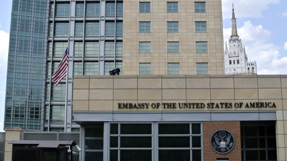 PHOTO: A view of the main building of the U.S. Embassy in downtown Moscow, Russia, is seen in this, May 14, 2013, file photo.