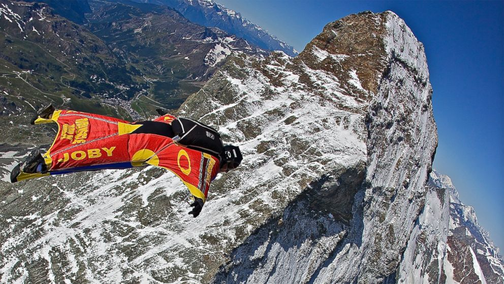 PHOTO: Joby jumps over the peaks of the Matterhorn in Switzerland, 2009.
