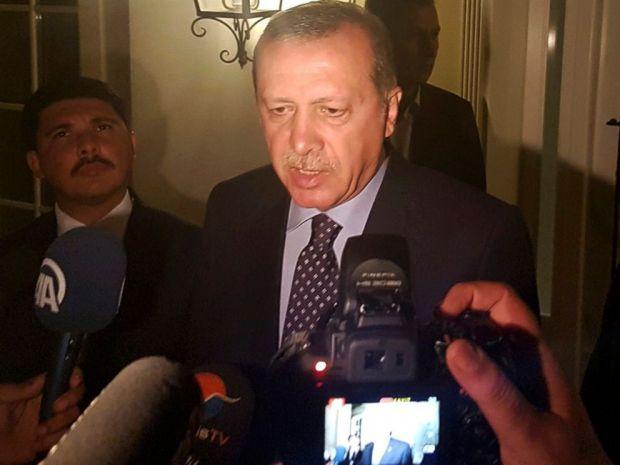PHOTO: Turkish President Tayyip Erdogan speaks to media in the resort town of Marmaris, Turkey, July 15, 2016.