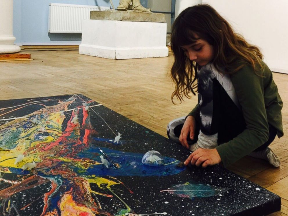 Aelita Andre 9 Year Old Abstract Painter Opens Solo Show