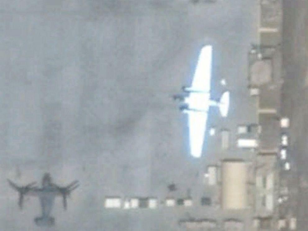 NASA WB-57 aereo fotografato dal satellite a Gibuti