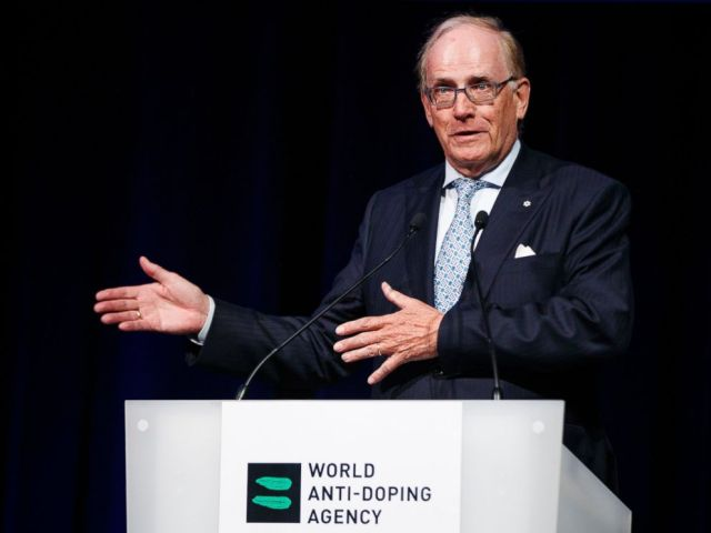 This March 13, 2017 file photo showing Richard McLaren speaking at the 2017 world anti-doping agency annual symposium in Switzerland. McLarens work verifying systematic cheating by Russia at the 2014 Sochi Games has been vindicated by an IOC panel.