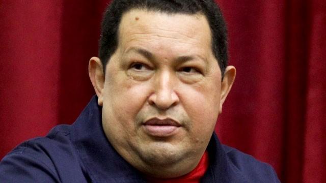 PHOTO: Venezuela's President Hugo Chavez speaks during a televised program from the Miraflores presidential palace in Caracas, Venezuela on April 11, 2012.