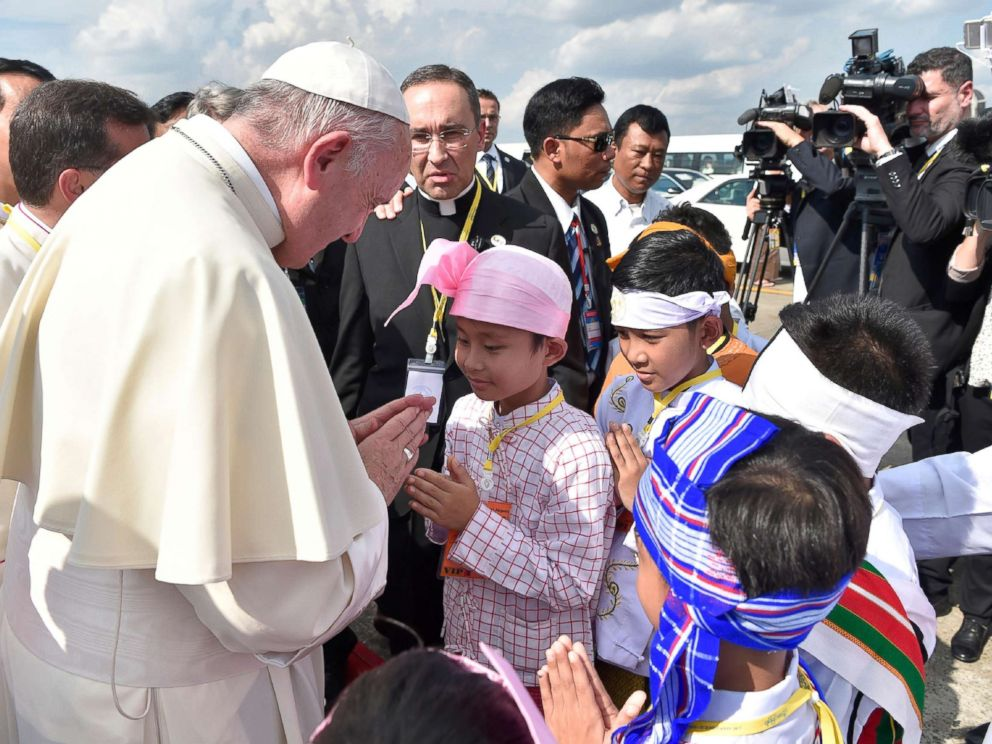 Image result for Pope Francis, Myanmar, photos