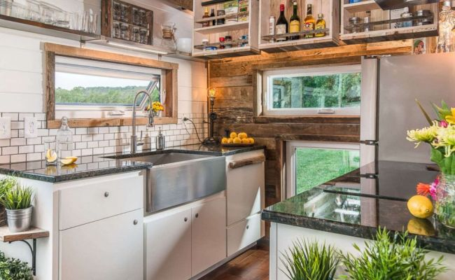See Inside The Rustic Glam Luxury Tiny Home With 246