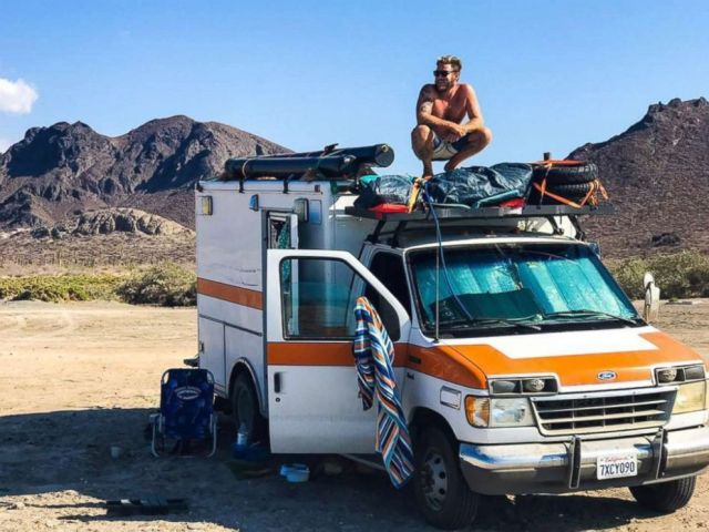PHOTO: Ian Dow, 33, of Newport Beach, Calif., bought an ambulance for $2,800 and has been traveling the world in it.