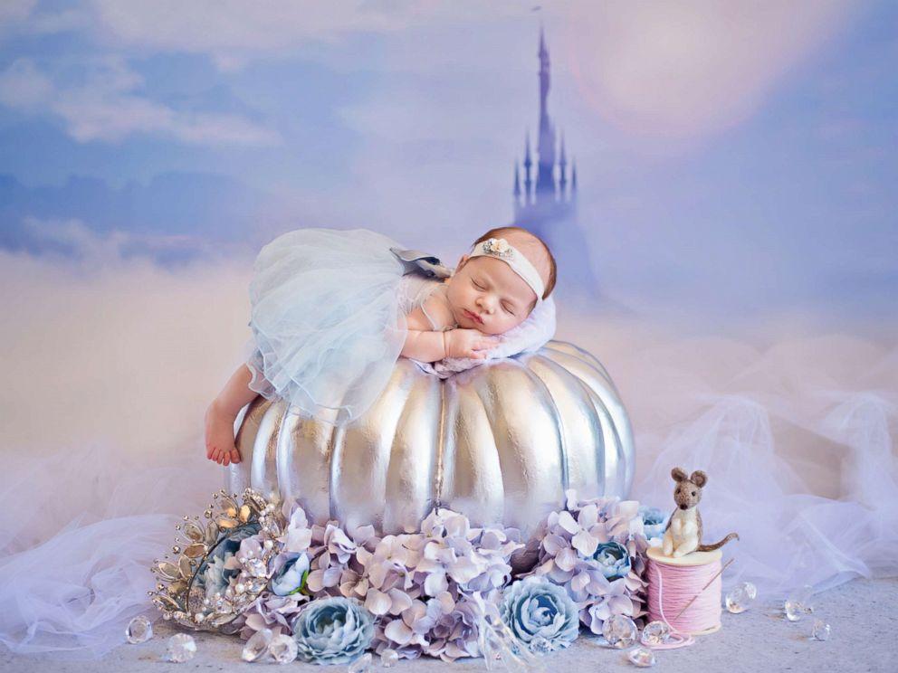PHOTO: A photographer turned newborn babies into Disney princesses for a magical photo shoot.