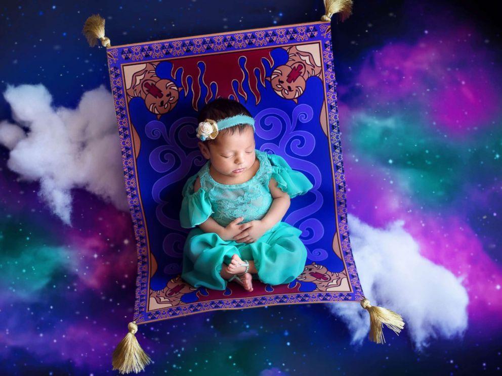 PHOTO: A photographer turned newborn babies into Disney princesses for a magical photo shoot. <p itemprop=