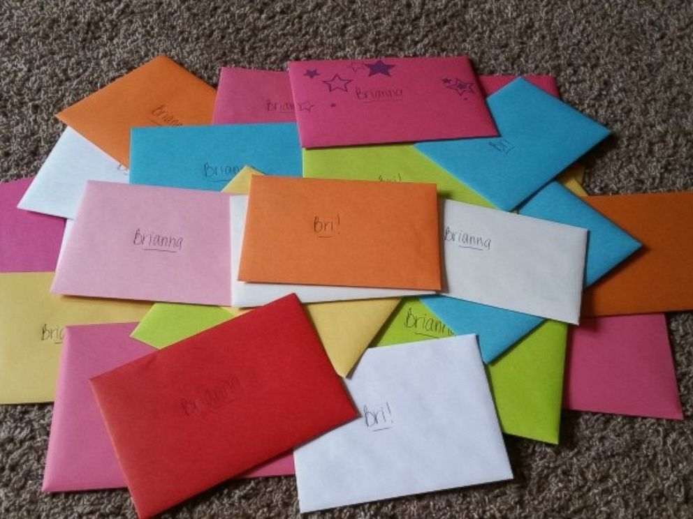 PHOTO: Heather McManamy said she hopes to hand some of the cards to her daughter, Brianna, herself.