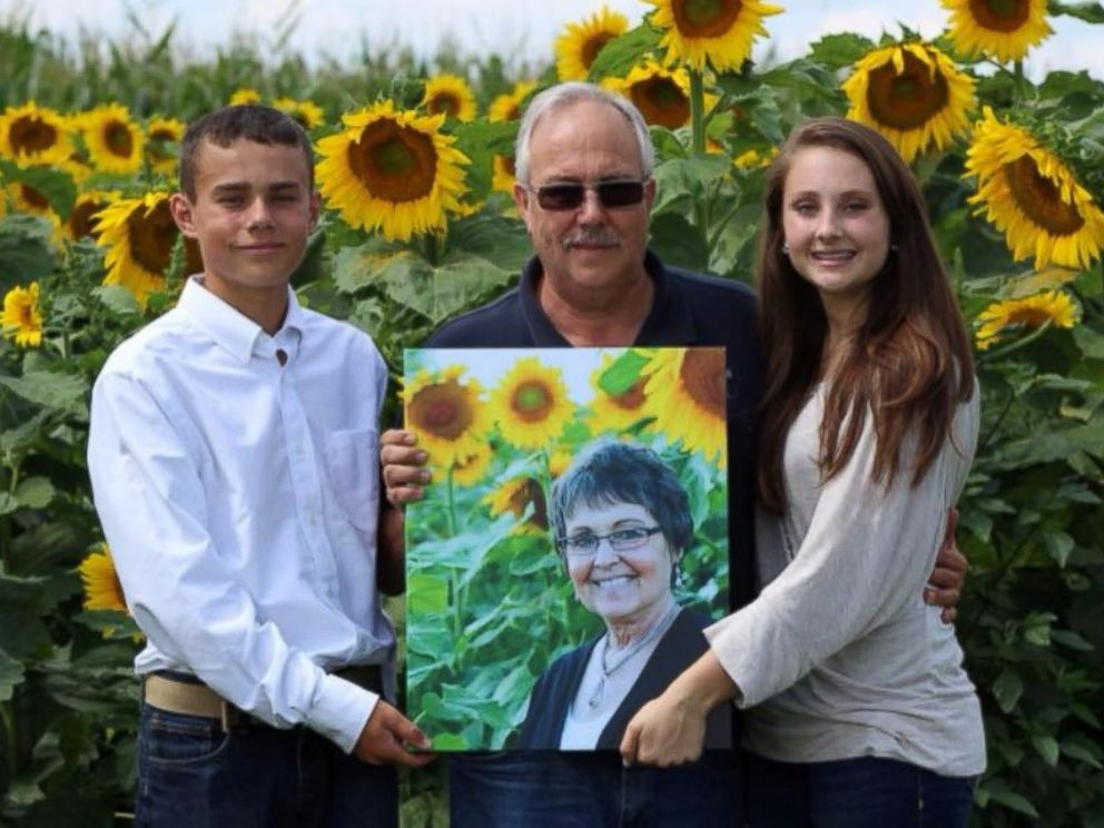 PHOTO: Don Jaquish poses with his step-grandchildren Anna and Andrew Schoen in a photo taken August 2015.
