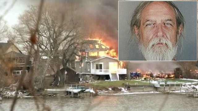 PHOTO: Firefighters were called to a house fire in Webster, N.Y. on Dec. 24, 2012, only to find a gunman. Inset: William Spangler who cops have identified as the alleged suspect.