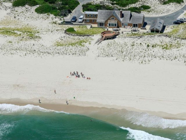 PHOTO: New Jersey Gov. Chris Christie uses the beach with his family and friends at the governors summer house at Island Beach State Park in N.J., July 2, 2017.