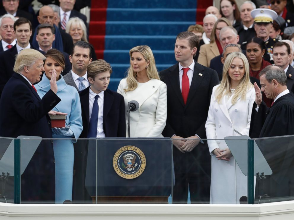 Donald Trump is sworn in as President
