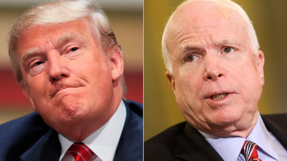 Image result for WHAT DID DONALD TRUMP SAY ABOUT jOHN mCCAIN