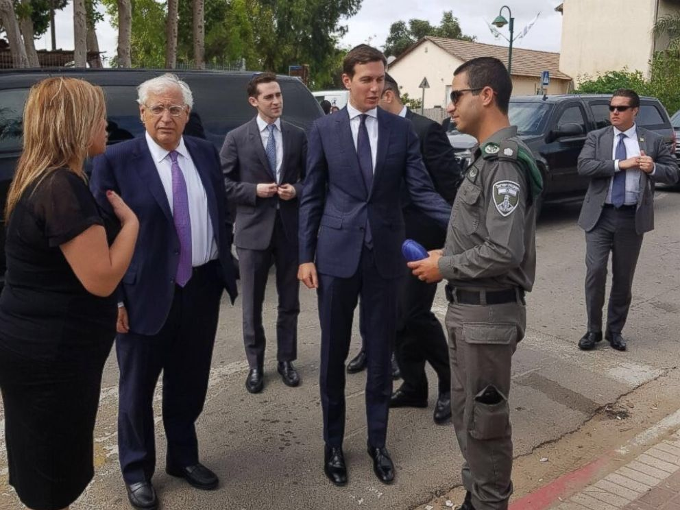 Image result for photos of jared kushner in jerusalem with Israeli leaders