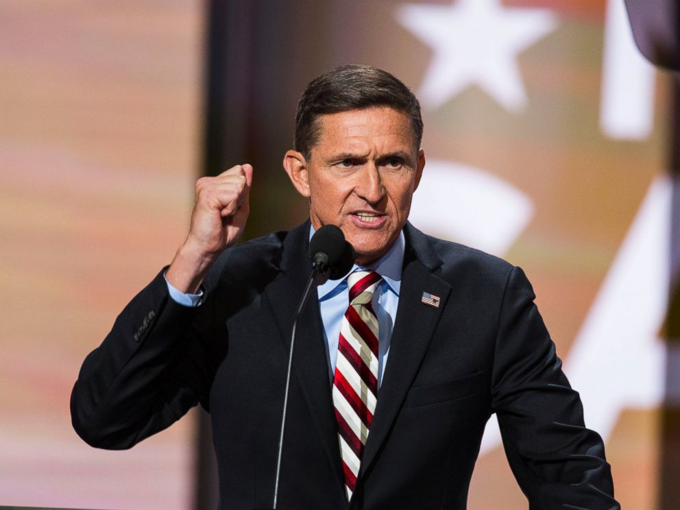 Image result for photo of Michael Flynn and Trump
