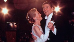 PHOTO: Newly elected President Ronald Reagan dances with his wife Nancy at the Inaugural Ball on Jan. 20, 1981.
