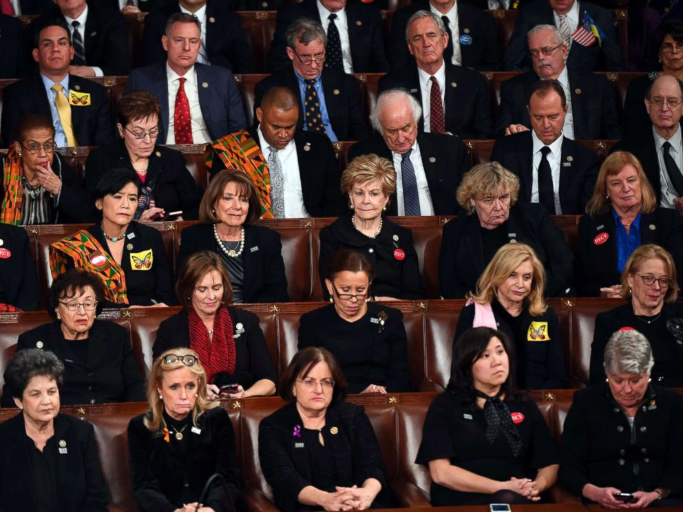 Image result for state of the union address 2018 DEMOCRATS