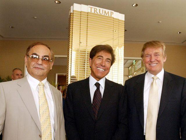 PHOTO: Kansas billionaire businessman Phil Ruffin, left, poses with Las Vegas developer Steve Wynn, and Donald Trump, right, July 12, 2005 in Las Vegas.