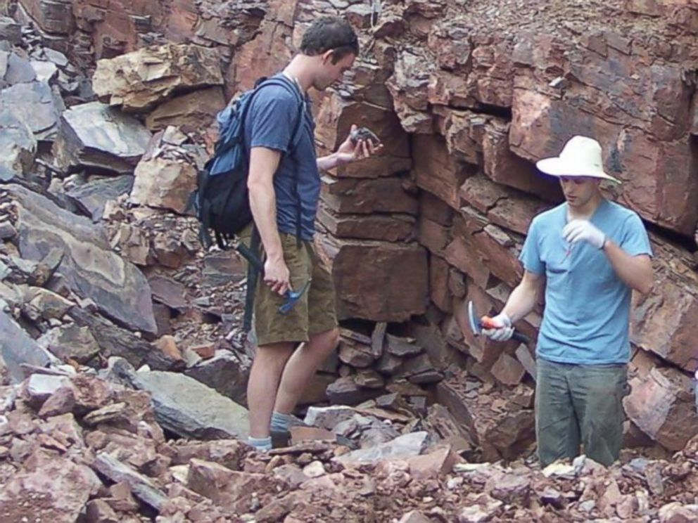 PHOTO: Christopher Reinhard of Georgia Institute of Technology, left, and Noah Planavsky of Yale University collecting fossils in China.