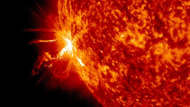 HT solar flare jtm 140611 16x9 608 Solar Flares Disrupt Communications on Earth, Could Send Shockwave on Friday the 13th