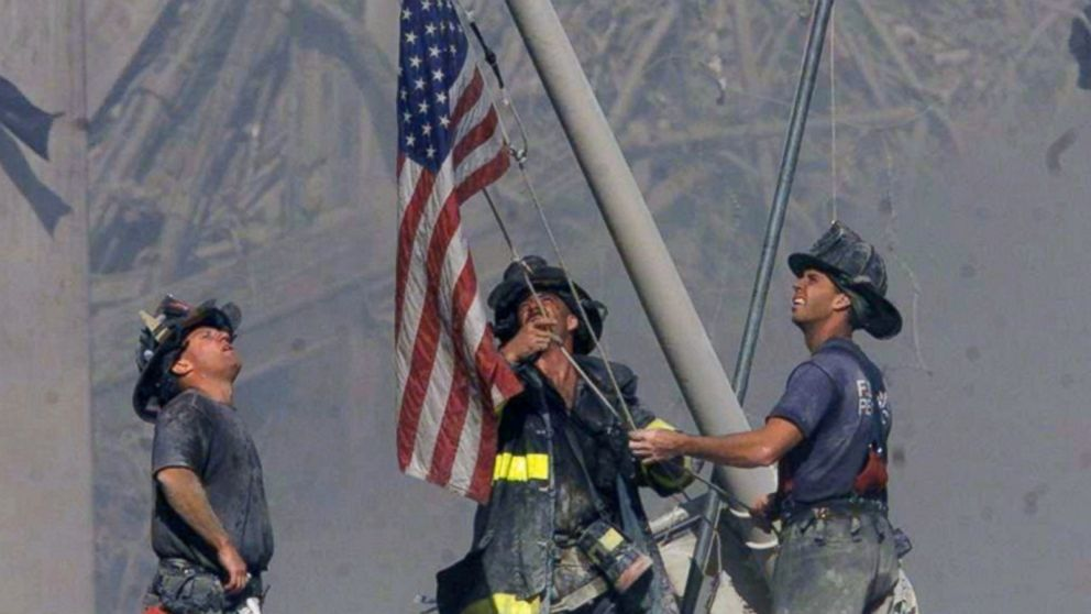 Image result for Iconic 9/11 flag, missing for years