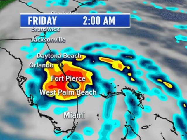 PHOTO: Hurricane Matthew is projected to make landfall in Florida early Friday morning.
