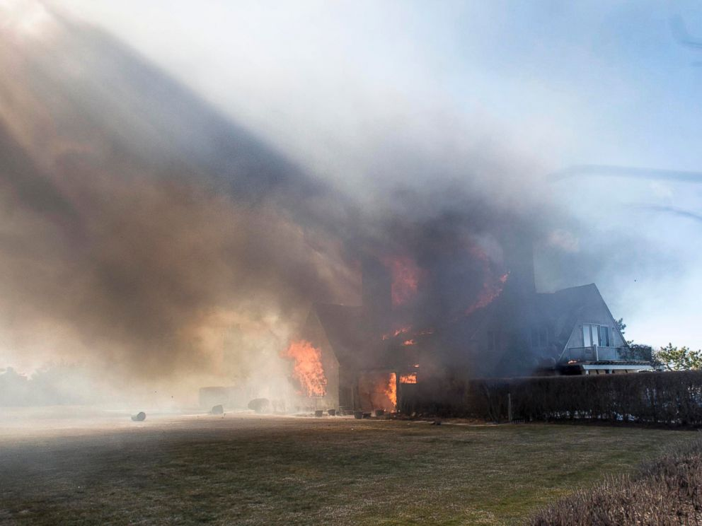 East Hampton Mansion Fire Former Home of Hard Rock Cafe Billionaire Burns to Ground  ABC News