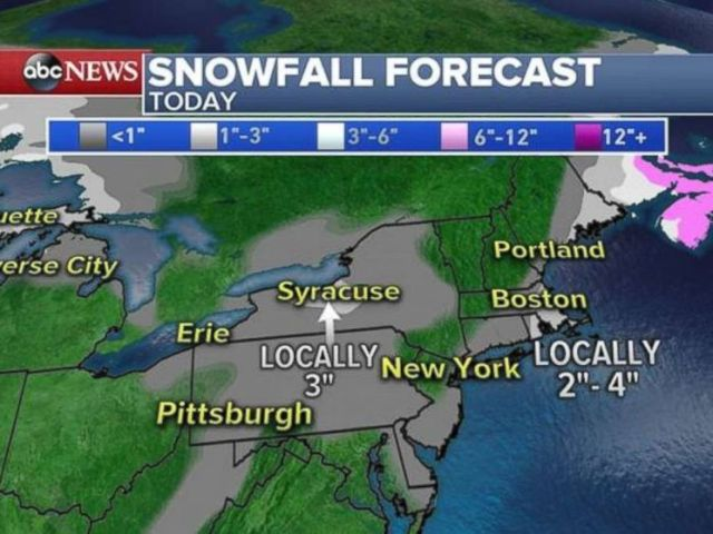 Snowfall totals will be minimal, but it will affect the morning commute across much of the Northeast.