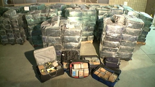 Tunnel Along USMexico Border Loaded With Drugs Video