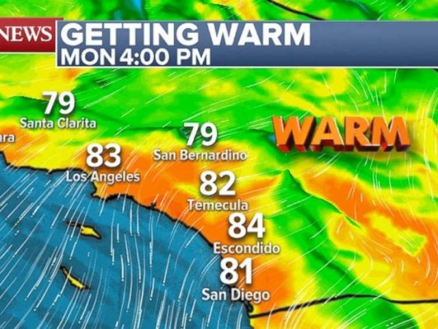 PHOTO: Temperatures will increase in Southern California on Monday.