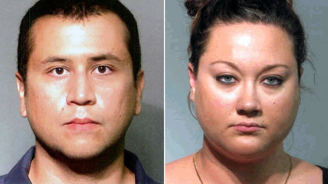 PHOTO: George, left, and wife Shellie Zimmerman, are shown in their respective booking photos.