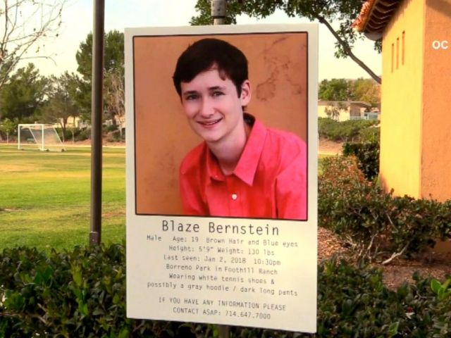 PHOTO: Blaze Bernstein, a pre-med student at the University of Pennsylvania, failed to return to his parents home in Foothill Ranch after going to nearby Borrego Park with a friend, said Carrie Braun, a spokeswoman for the Sheriffs Department.