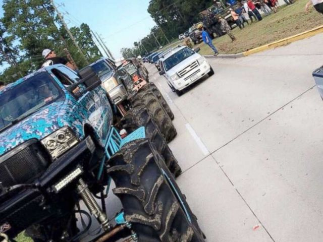 PHOTO: A fleet of monster trucks driven by volunteers are traveling to Texas cities hardest hit by floodwaters to conduct rescues.