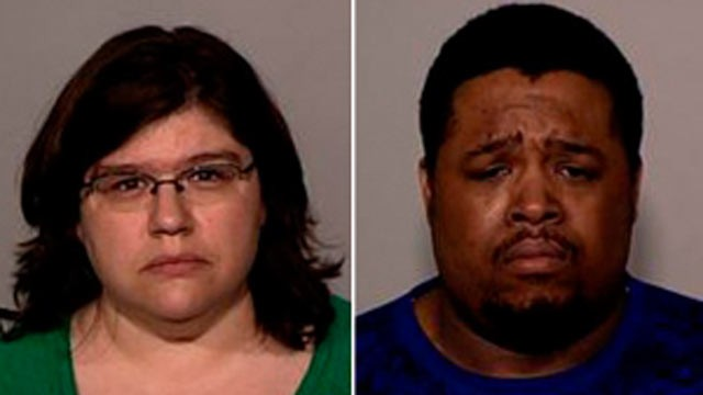PHOTO: Stephanie Ann Broten and Darnell Alan Landrum were arrested, May 7, 2012, suspicion of gross-misdemeanor malicious punishment of a child.