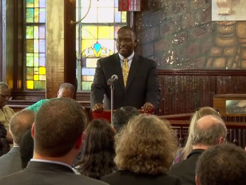 PHOTO: Rev. Clementa C. Pinckney is seen speaking at the Emanuel AME church in Charleston, S.C. in an image made from a video posted to YouTube on Feb. 20, 2015.